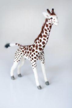 Needle Felted Animals Giraffe Giraffe by FeltedAnimalsStudio, $65.00