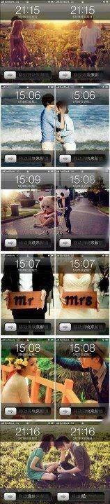 Lovely couple lock screens on iPhone