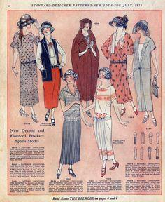 Fashion illustration from la Mode pour l\'Automne 1920. Dessinee par ...