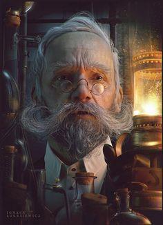 cg-hub: Vvinners character artwork created in Zbrush Photoshop by artist mrhoho ( Pawel Rebisz) of Rzeszow, Poland! Cthulhu, Character Portraits, 3d Character, Character Concept, Digital Portrait, Digital Art, 3d Portrait, Art Cg, Steampunk Kunst