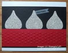 A Valentine that looks like a Hershey's Kiss made with Stampin'UP!'s Blossom Builder Punch.