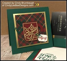 Stampin' Up Cup of Christmas Gift Card Holder Video Tutorial | Cindy Lee Bee Designs