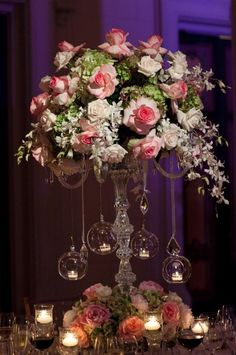 For a wedding reception or some other very spceial event! Great centerpiece for the bride and groom table.