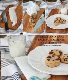 Freeze-and-Bake Paleo Chocolate Chip Cookies. Tie a bow around it and give it as a gift! Free printable tags included