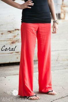 Oceanside Linen Pants - 6 Color Options {Jane Deals}