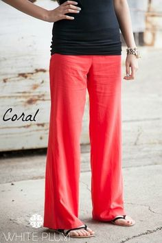 Oceanside Linen Pants - 6 Color Options {Jane Deals}