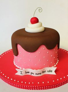 Fondant cakes for baby shower. Fondant cakes how to make. Fondant cakes new jersey. Pretty Cakes, Cute Cakes, Fancy Cakes, Mini Cakes, Decors Pate A Sucre, Valentines Day Cakes, Holiday Cakes, Occasion Cakes, Love Cake