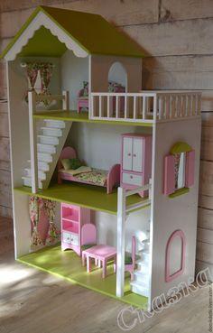 Купить Кукольный домик - кукольный дом, кукольный домик, Дом для кукол, дом для куклы, барби