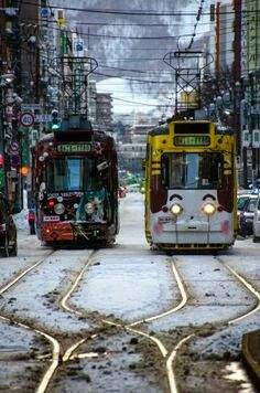 Sapporo is the fifth largest city of Japan by population, and the largest city on the northern Japanese island of Hokkaido. It is the capital city of Hokkaido Prefecture, and is an ordinance-designated city. Sapporo, City Ville, Places Around The World, Around The Worlds, Trains, All About Japan, S Bahn, Train Tracks, Fukuoka