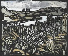 Manly pines, (1953) by Margaret Preston :: The Collection :: Art Gallery NSW
