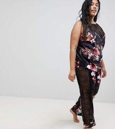 Shop Figleaves Curve Blossom Pajama Set at ASOS. Plus Size Sleepwear, Pajamas Women, Pajama Set, Fashion Online, Asos, Cover Up, Big, Clothing, Shopping