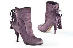 Pura Lopez purple boots
