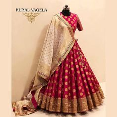 Red Banarasi Brocade Bridal Lehenga Price: INR *Currently, this particular lehenga stands sold out Buy from Designer Kunal Vagela from Indore Party Wear Indian Dresses, Party Wear Lehenga, Indian Gowns Dresses, Indian Bridal Outfits, Dress Indian Style, Indian Fashion Dresses, Indian Designer Outfits, Indian Wear, Bridal Dresses