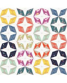Saved to Dropbox! Good fortune Cotton & Steel free pattern - good fortune paper pieced - would look awesome scaled down @ 60% for a pillow