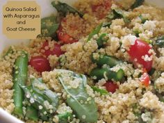 Easy Healthy Recipe: Quinoa Salad with Asparagus and Goat Cheese