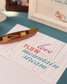 """See the """"Canoe Guestbook"""" in our Wedding Guest Book Ideas gallery"""