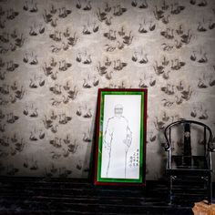 Swan Lake Wallpaper by Hanna-Kaisa Korolainen Scandinavian Wallpaper, Scandinavian Design, Application Pattern, Grey Roses, Wallpaper Online, Swan Lake, Pretty Wallpapers, Elle Decor, Designer Wallpaper