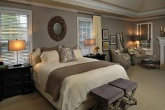 Love gray bedrooms!