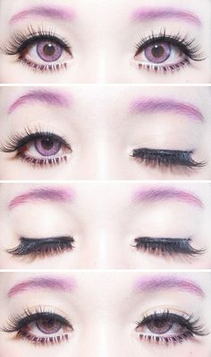 Placement of bottom lashes.     ichigoflavor:  Winku~! It's the first time I included my eyebrows in an eye photo~