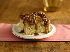 Gluten Free Warm Caramel Apple Cake with betty crocker gluten free yellow cake mix