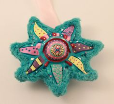 Psychedelic Ooak Starfish Handmade Interior by PowWowMadHouse