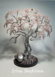 Wire Tree Sculpture, Wire Trees, Metal Tree, Big Tree, Wire Crafts, Wire Work, Bottle Crafts, Tree Of Life, Bonsai