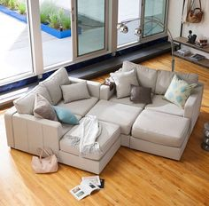 I want this couch. Love the idea of being able to easily move things around in the living room  http://www.lovesac.com/sactional.html?c=m-lounger&f=standard&a=standard&p=Taupe_Combed_Chenille