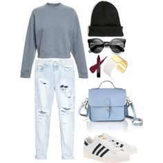Untitled #230 by imyeni on Polyvore featuring polyvore fashion style Acne Studios One Teaspoon adidas Originals The Cambridge Satchel Company Kate Spade