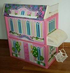 Barbie Vintage 1984 Glamour House Spiral Staircase Swing Complete Vgc