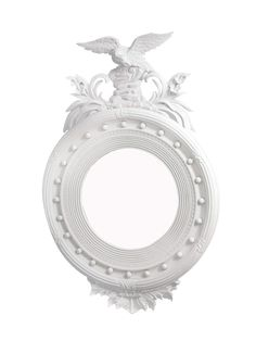 White Federal-Style Mirror With Eagle