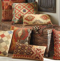 Exciting patterns and rich colors make our Kilim Indoor Throw Pillows timeless favorites