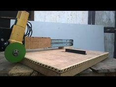 slide angle grinder stand - YouTube