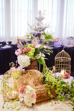 Rustic wedding flowers and decor! CHIC & RUSTIC MONTREAL WEDDING www.elegantwedding.ca