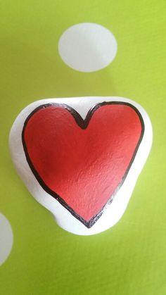 Stone rock heart