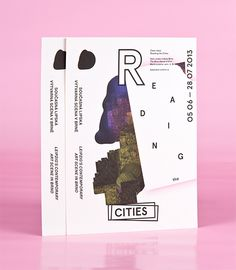 """Visual for exhibition, Reading the Cities, Leipzig's contemporary art scene.""  Designs by Anymade Studio: http://www.anymadestudio.com/"