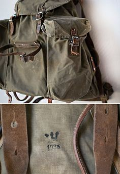 rare vintage swedish 1930s military backpack // by OrnHansen