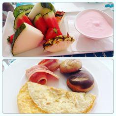 Wonderful breakfast at Lani's Suites Deluxe Resort in Puerto Del Carmen Lanzarote, the Canary Islands Spain