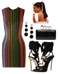 """GG."" by vcvintage on Polyvore featuring Balmain, Dsquared2, Alexander McQueen and R.J. Graziano"