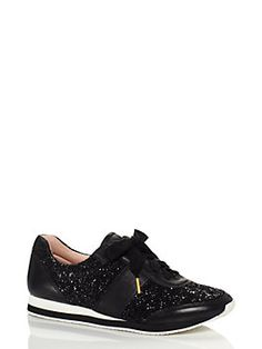 talk about fancy footwork: this glitter-covered sneaker offers a stylish alternative to gym shoes for those days when you'll be running errands all around town.
