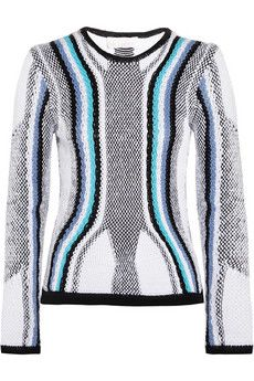 Peter Pilotto R contrast-knit cotton sweater | THE OUTNET