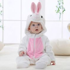 0c28ab022f94 Baby & Toddler cute romper,White Rabbit animal jumpsuit onesie clothing  set - Qclouth