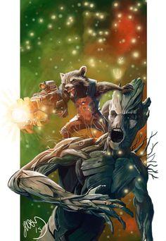 Guardians of the Galaxy - Rocket and Groot by Helonzyz.deviantart.com on @DeviantArt