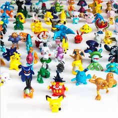 Amazon.com: CNFT Pokemon Action Figures, 144-Piece, 2-3 cm: Toys & Games