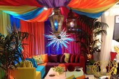 moroccan style bedding | Moroccan style lounge area.... | Bedding & Fabric Luxury