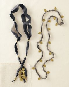 Botticelli's Niece Silk Ribbon Necklace