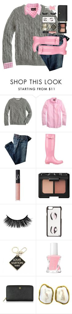 """people throw rocks at things that shine ✨"" by mehanahan ❤ liked on Polyvore featuring J.Crew, Citizens of Humanity, Hunter, NARS Cosmetics, Kate Spade, Louis Vuitton, Essie, Tory Burch and Tiffany & Co."