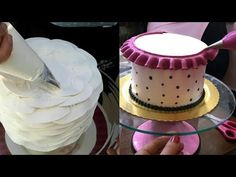 It's easy to see when a cake decorating job is well done, with impressive finishing touches and cake decorating techniques such as perfect roses, borders or . Cake Decorating Techniques, Cake Decorating Tutorials, Love Cake Recipe, Buttercream Techniques, Cupcake Youtube, Hot Milk Cake, Chocolate Drip Cake, Cake Craft, Buttercream Cake