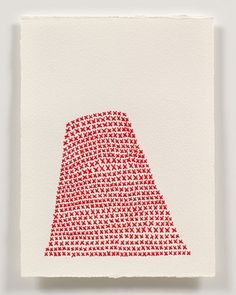Emily Barletta, embroidery on paper