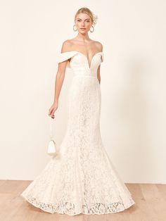 9368a903 Reformation Mykonos Wedding Dress $528 Fall Bridesmaid Dresses, Dream  Wedding Dresses, Bridal Dresses,