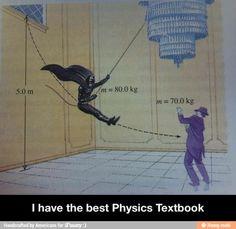 The best physics textbook - Batman Funny - Funny Batman Meme - - The best physics textbook The post The best physics textbook appeared first on Gag Dad. Dc Memes, Funny Memes, Hilarious, Funny Pins, Funny Quotes, Physics Textbook, Physics Humor, Biology Humor, Grammar Humor